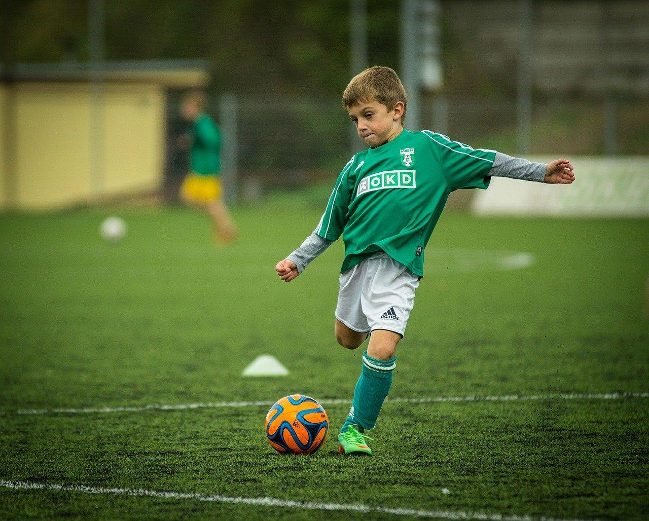 sportující dítě