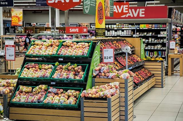 vnitřek supermarketu