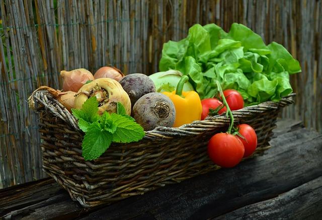 Zelenina na lavici